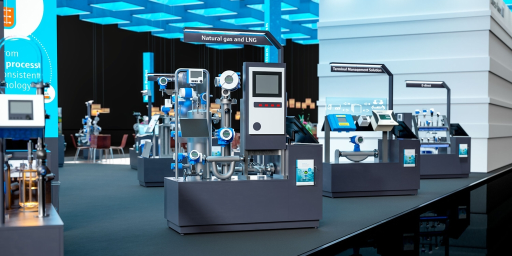 Endress+Hauser virtual trade fair booth